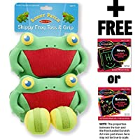 Skippy Frog Toss & Grip Action Game: Sunny Patch Outdoor Play Series + FREE Melissa & Doug Scratch Art Mini-Pad Bundle [66839] [並行輸入品]