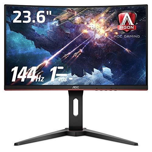 AOC ゲーミング モニター C24G1/11 (23.6インチ/144Hz/1ms/VA 曲面パネル/HDMI×2 DP×1)