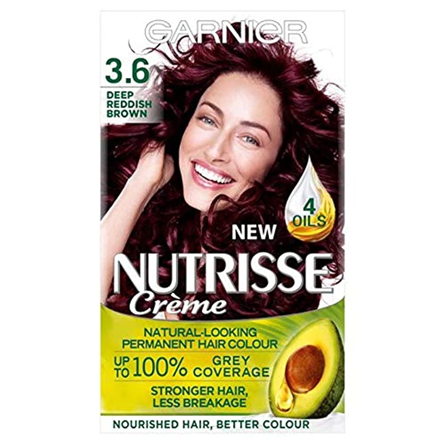 アジャ余剰うがい薬[Nutrisse] 3.6深い赤褐色の永久染毛剤Nutrisseガルニエ - Garnier Nutrisse 3.6 Deep Reddish Brown Permanent Hair Dye [並行輸入品]