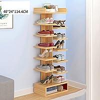 YNN 7つの層の靴の棚無し引き出し家庭用の塵の扉の靴大容量の棚 (色 : 木の色)