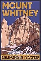 MT。Whitney、カリフォルニアピーク 16 x 24 Signed Art Print LANT-33400-709