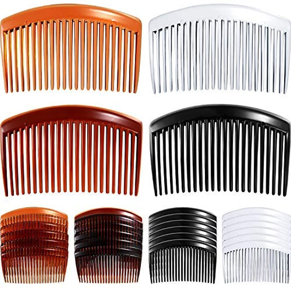 電子審判心理的24 Pieces Hair Comb Plastic Hair Side Combs Straight Teeth Hair Clip Comb Bridal Wedding Veil Comb for Fine Hair...