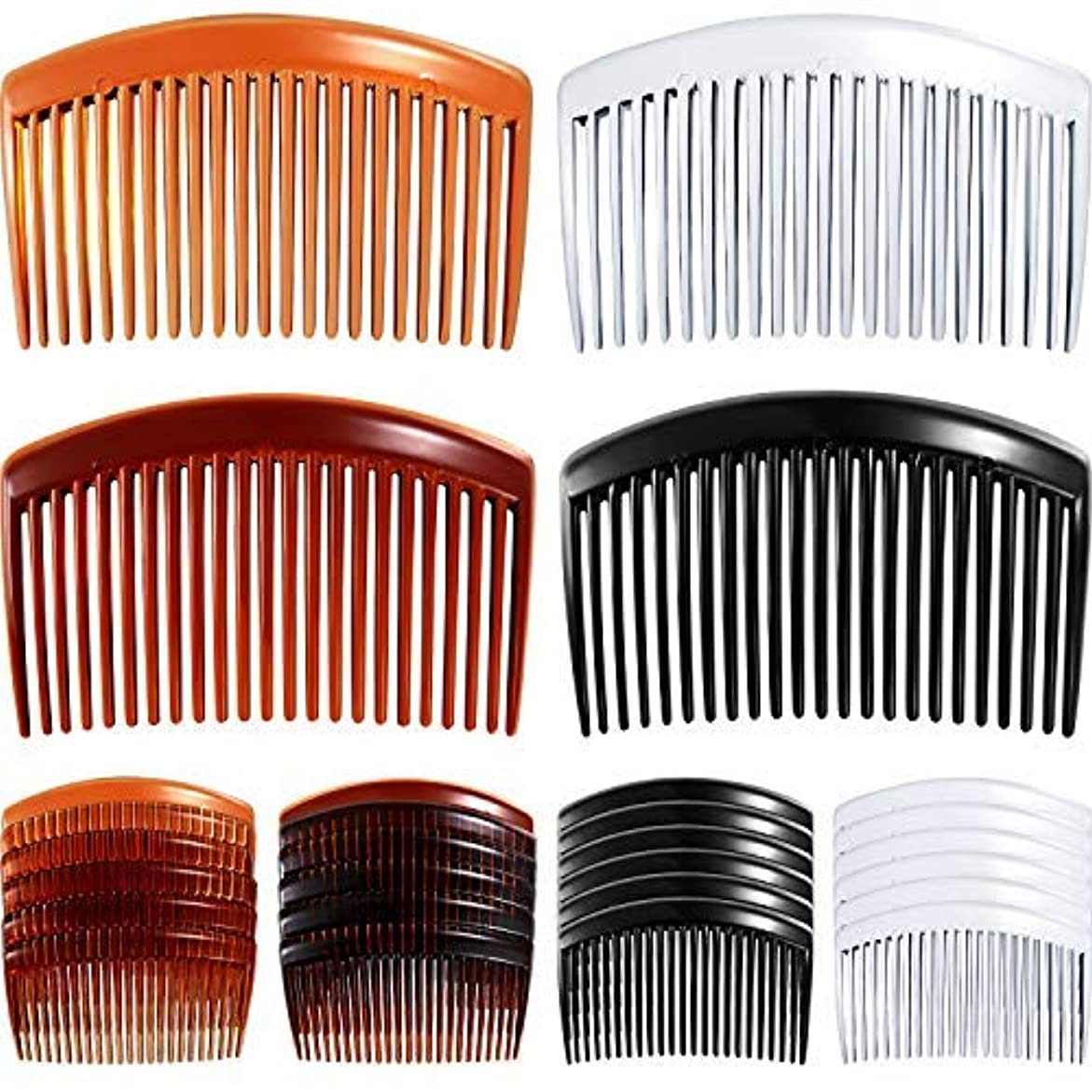 反発責任者愛する24 Pieces Hair Comb Plastic Hair Side Combs Straight Teeth Hair Clip Comb Bridal Wedding Veil Comb for Fine Hair...