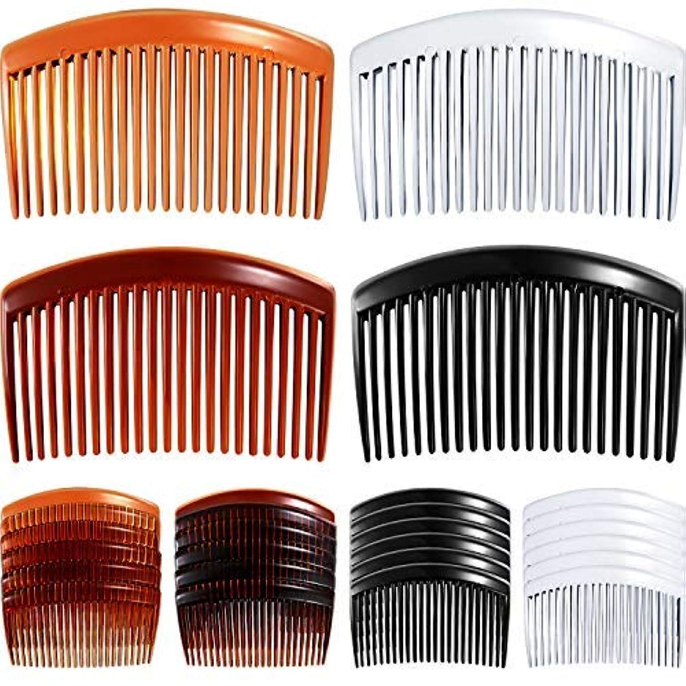 元気常に恥24 Pieces Hair Comb Plastic Hair Side Combs Straight Teeth Hair Clip Comb Bridal Wedding Veil Comb for Fine Hair...