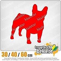 KIWISTAR - French Bulldogge dog 15色 - ネオン+クロム! ステッカービニールオートバイ