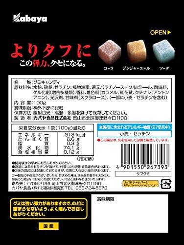 カバヤ タフグミ 100g×6袋