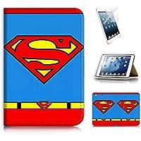 iPad Mini Gen 1 2 3 Flip Case Cover & Screen Protector Bundle! A20471 Superman [並行輸入品]