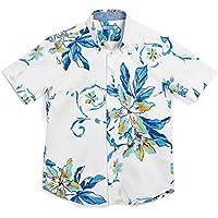 MAJUN (マジュン) かりゆしウェア アロハシャツ かりゆし 結婚式 メンズ 半袖シャツ ボタンダウン ポッピングツリー