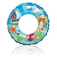 子供用 浮き輪 海フロートプール 携帯便利 可愛い スポーツ 海水浴 (青)