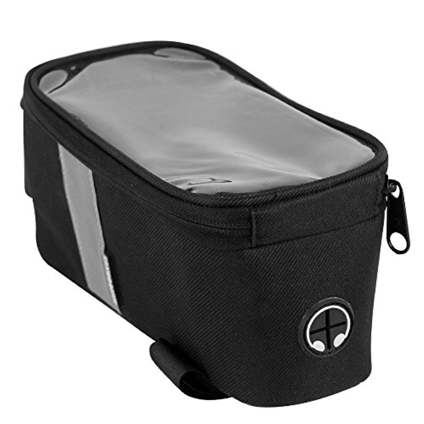 乗り出す隠数学防水バイクバッグタッチスクリーントップチューブサイクリングバッグ不織布EVA