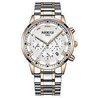 金の水晶腕時計の人は方法人の腕時計のステンレス鋼を見ます