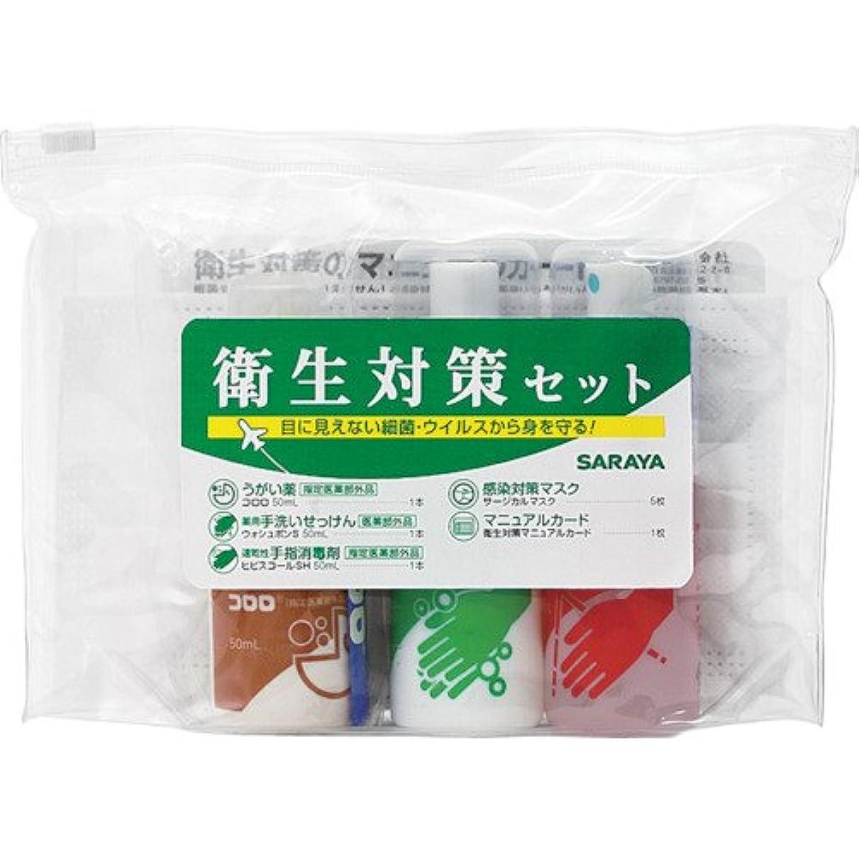 忌避剤ショッピングセンター吸収剤サラヤ 衛生対策セットN 42393