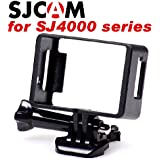SJCAM SJ4000シリーズ用 ネイキッドフレーム + クイックリリースバックル + 蝶ネジ + オリジナルアクセサリー袋 セット ((SJ4000用)ネイキッドフレーム)