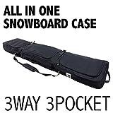 VOICE (ヴォイス) FSC950 スノーボードケース オールインワン 3ポケットで個別収納可! 3WAY 全面パッッド入り 大容量 (149)