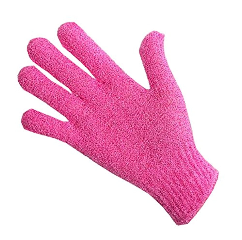 ファイナンスどこか憂鬱な指、バスタオルエクスフォリエイティングラビングタオルボディバック-1ペア、ピンク
