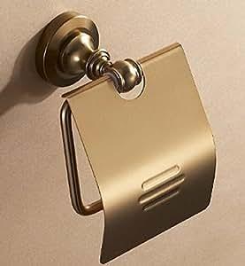 【ノーブランド品】 アンティークゴールド トイレットペーパーホルダー TPH01