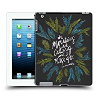 オフィシャル Cat Coquillette Mountains チャコール カリグラフィー ハードバックケース Apple iPad 3 / iPad 4