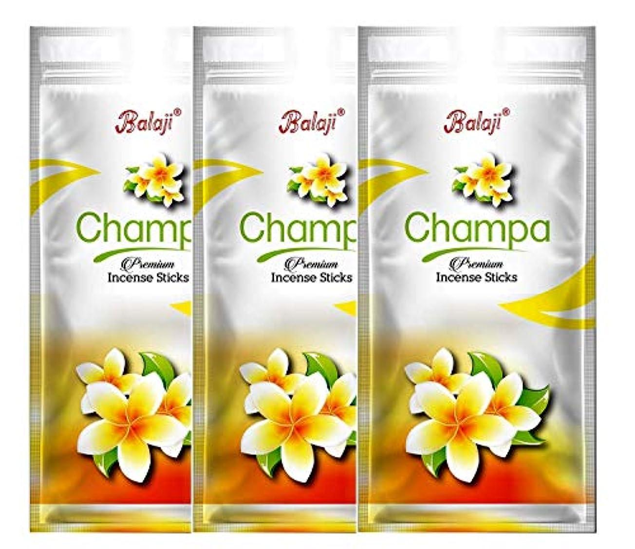 水素サークル栄養BALAJI Champa Incense Stick (125 Gm Each)