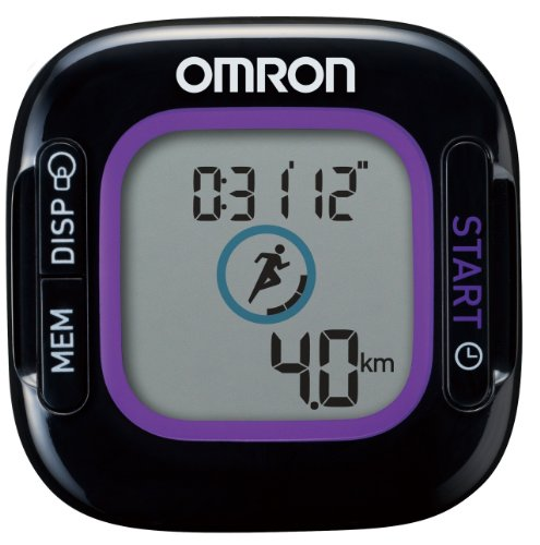 オムロン(OMRON) 活動量計 ウェルネスリンク対応 Jog Style ジョグスタイル ブラック HJA-312-BK