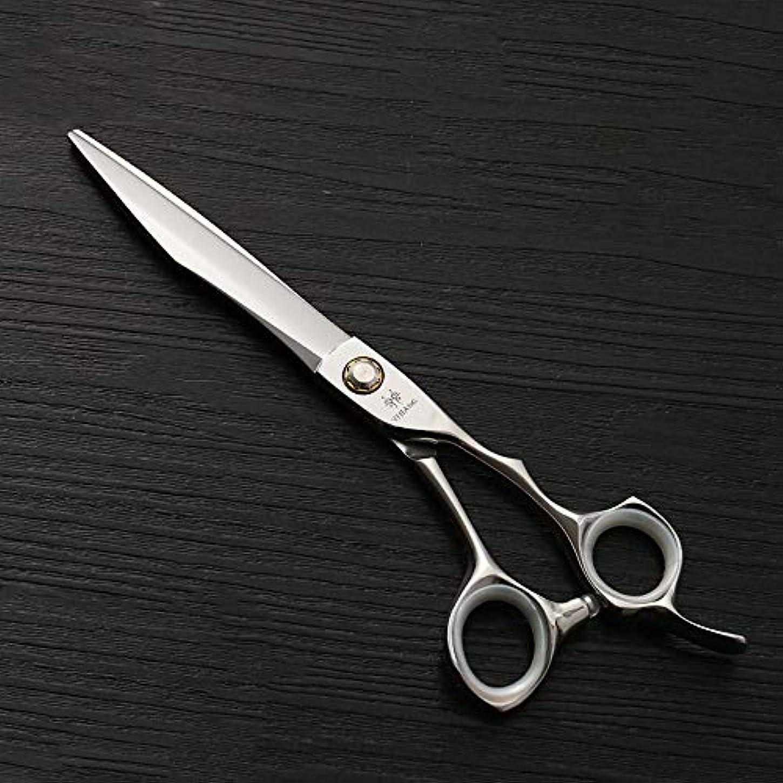 テント起こる分離7.0インチナイフアックスビッグカットフラットせん断440 c高品質スチールペットストレートカット ヘアケア (色 : Silver)