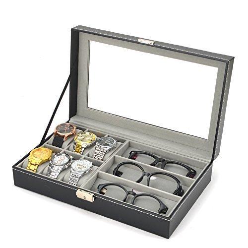 腕時計&メガネ 収納ボックス 高級感 ウォッチ コレクション...