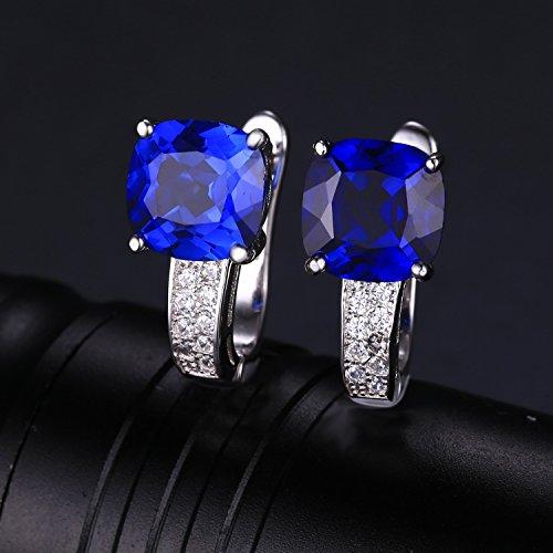 JewelryPalace 4.5ct 高品質 人工 ブルー サファイア イヤリング レディース 9月 誕生石 スターリング シルバー925 ピアス 女性 人気