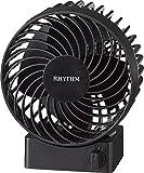 リズム時計 卓上 USB ファン シルキー・ウィンドS 【 省エネ 】【 強風 】【 静音 】 黒 RHYTHM 9ZF017RH02