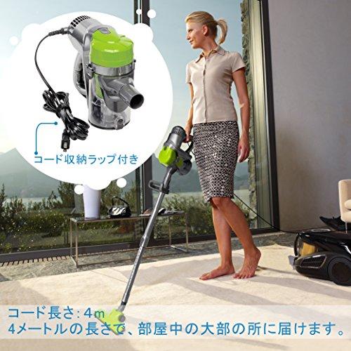 Rollibot 掃除機 サイクロン式 スティッククリーナー 軽量 紙パック不要 6種類ツール 高効率 ハンディ Rapido 100B