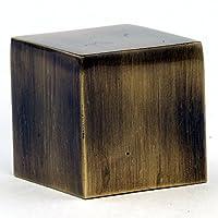 現代真鍮キューブランプフィニアル–1インチ正方形