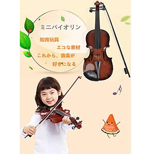 Herasa キッズ バイオリンおもちゃ 子供 楽器玩具 知育玩具 バイオリン 誕生日プレゼント 松脂付き