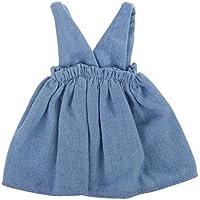 Lovoski  人形 ファッション  デニム  ショルダーストラップ   ベスト  ジーンズ  ドレス 12インチブライスドール適用 装飾