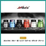 正規品 VAPE 電子タバコ Wotofo NUDGE RDA (ウォトフォ ナッジ アールディエー) 【22mm】選べるカラー6色 (⑥ ガンメタル)