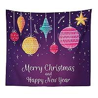 壁のタペストリー クリスマスデコレーションボールのキャンバスタペストリークリスマスヨガマットカーペットビーチタオル 壁飾りタペストリー (色 : C7, サイズ : 150*200cm)