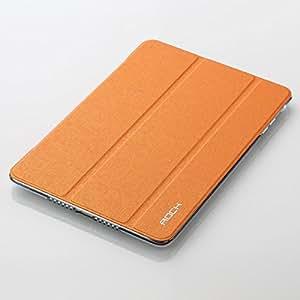 iPad mini 3 / iPad mini 2 (iPad mini Retina) 専用 薄型PUレザーケース 重さわずか105g スタンド機能 自動ON/OFFスリープ機能付き Smart Case (オレンジ)