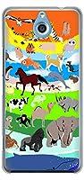 ワイモバイル かんたんスマホ 705KC クリア ケース カバー YJ202 アニマル 動物 カラフル かわいい 素材クリア