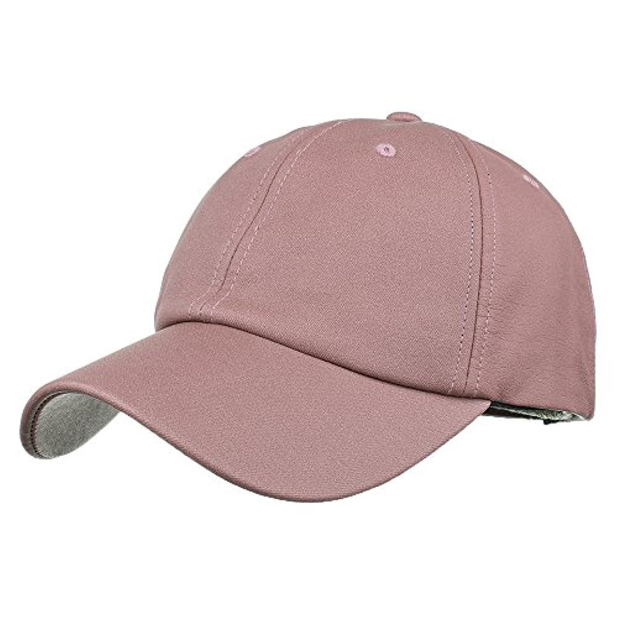 食器棚ヘロインロープRacazing Cap PU 無地 ヒップホップ 野球帽 通気性のある 帽子 夏 登山 可調整可能 棒球帽 UV 帽子 軽量 屋外 Unisex Hat (ピンク)