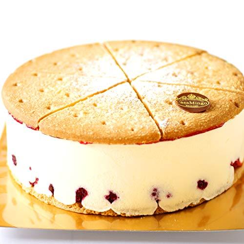 洋菓子店カサミンゴー 最高級洋菓子 ドイツの銘菓 ケーゼザーネトルテ レアチーズケーキ (誕生日プレート無し, 15cm)