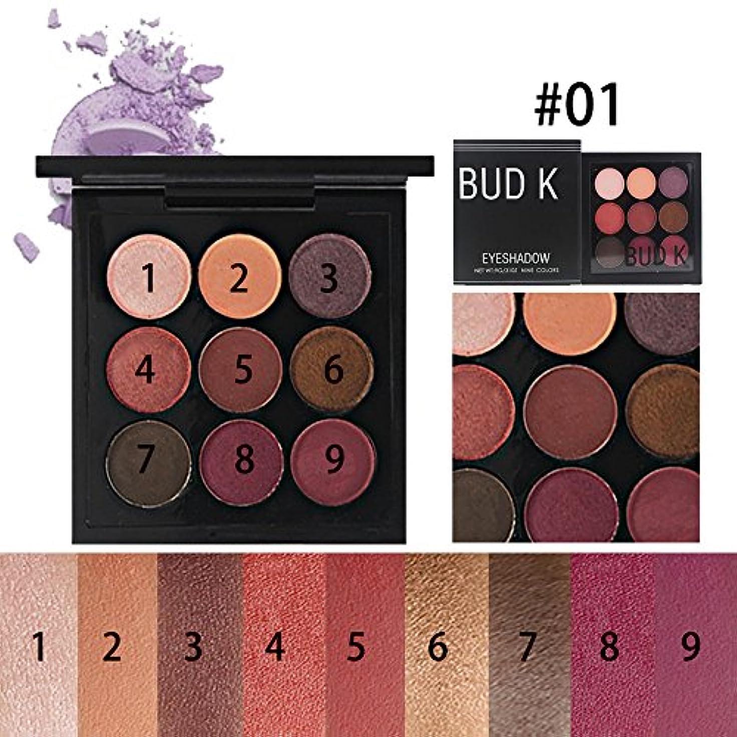 放置シェードクランプAkane アイシャドウパレット BUD K 人気 ファッション 高級 マット 綺麗 欧米風 つや消し 日本人肌に合う 持ち便利 Eye Shadow (9色)
