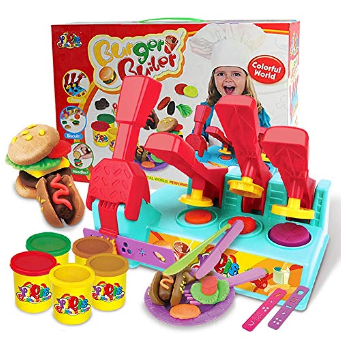 移動する高潔な接尾辞ACHICOO ままごと ごっこ遊び プラスチシン ハンバーガー型 知育 セット コンビネーション カラーマッド 子供