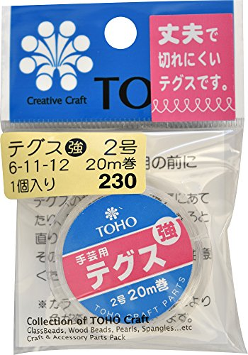 TOHO テグス 太さ約0.23mm×約20m巻 強 2号 スキ 6-11-12