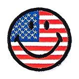 国旗ワッペン スマイルパッチ 星条旗アメリカ USA