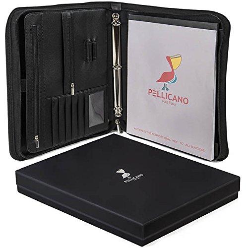 元PUレザーポートフォリオケースW /手書きパッド: Look Professional at Work。タブレット/ Boogie Boardポケット、リングバインダー、オーガナイザー、ノートブックホルダー。安全な個人&ビジネスSupplies、フォルダ、パッド