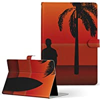 igcase dtab Compact d-02H Huawei dtab Compact タブレット 手帳型 タブレットケース タブレットカバー カバー レザー ケース 手帳タイプ フリップ ダイアリー 二つ折り 直接貼り付けタイプ 003151 クール その他 写真・風景 サーフィン 海 写真