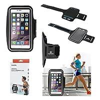 DFV mobile - 以下のためのバックルが付いているラップアラウンドスポーツを反映プロフェッショナルカバーネオプレン防水ライト腕章 => INTEX AQUA DREAM > 黒
