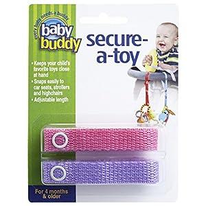 Baby Buddy ベビー バディ Secure-A-Toy 2ct おもちゃストラップ2色各1本組 【アメリカ製】 Pink&Lilac ピンク&ライラック