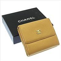 シャネル CHANEL Wホック財布 三つ折り コンパクトサイズ ユニセックス ココマーク 中古 人気 Y2732