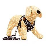 vivcoo 猫 犬 ハーネス リード ペット 服 ウェアハーネス 胴輪 キャット ドッグ リーシュ リボン 首輪 胴輪 中型犬 小型犬 猫 ハーネス おしゃれ 散歩 (XS)