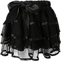 Lovoski ガール レース ショート スカート 子供 プリンセス ファッション ソリッド カラー ポンチョ  誕生日 プレゼント 全5色