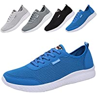 ALSYIQI Couples' Fashion Simple Lightweight Sneakers Sport Mesh Shoes