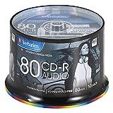 Verbatim バーベイタム 音楽用 CD-R 80分 50枚 ホワイトプリンタブル 48倍速 MUR80FP50SV2